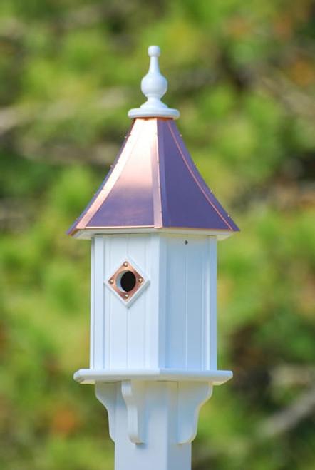 """10""""W x 28""""H - Hexagon Blue Bird House"""