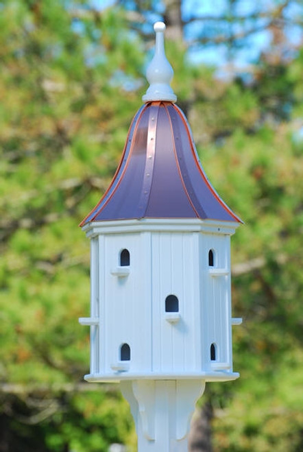 "16""W x 42""H - Octagon Dovecote Birdhouse with Perches"