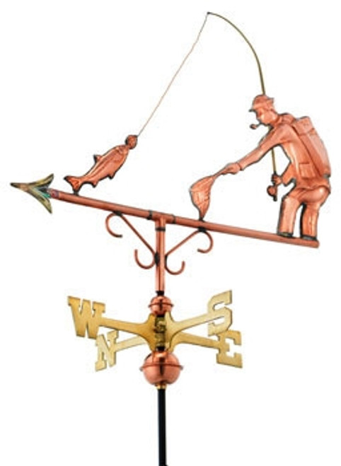 Small Fisherman Weathervane