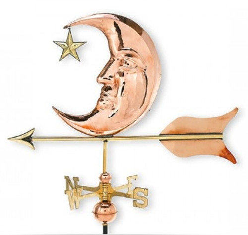 Large Moon Weathervane