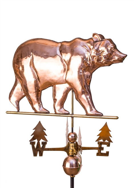 Large Bear Weathervane with tree directionals