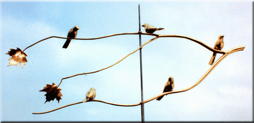 Sparrows on Branch Weathervane
