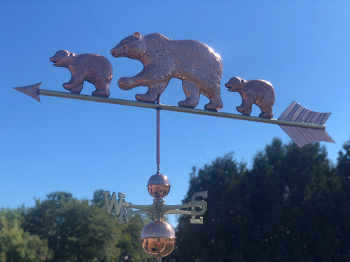 Bear and Cubs Weathervane