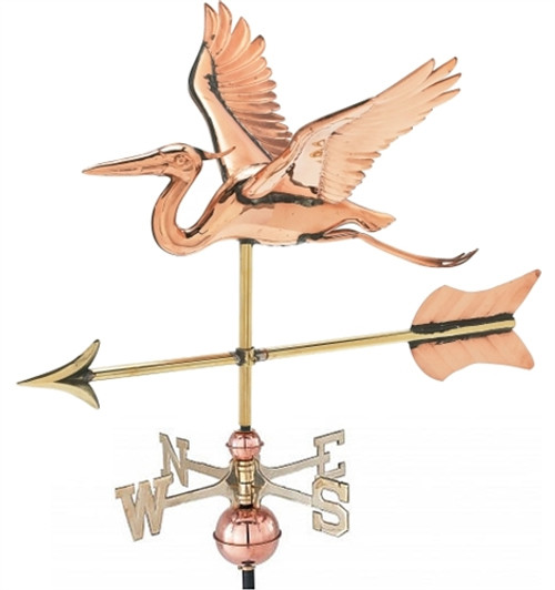 Small 3-D Heron Weathervane