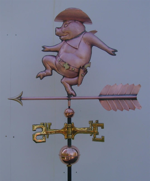 Sheriff Pig Weathervane