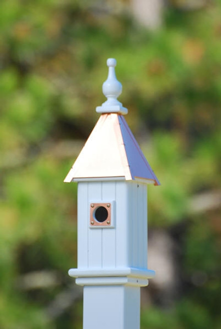 "6""W x 26""H - Square Blue Bird House"