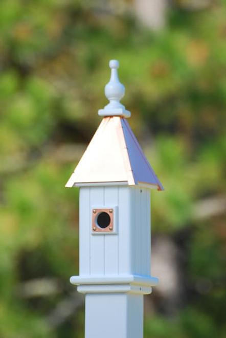 "6""W x 26""H - Square Blue Bird House"