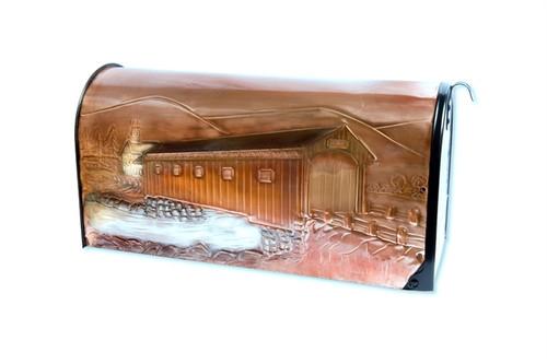 Rural Covered Bridge Copper Mailbox