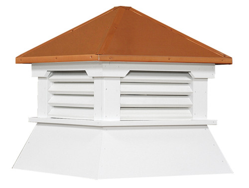 Shed cupola louvers straight roof