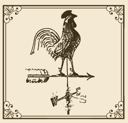 Primrose Rooster Weathervane