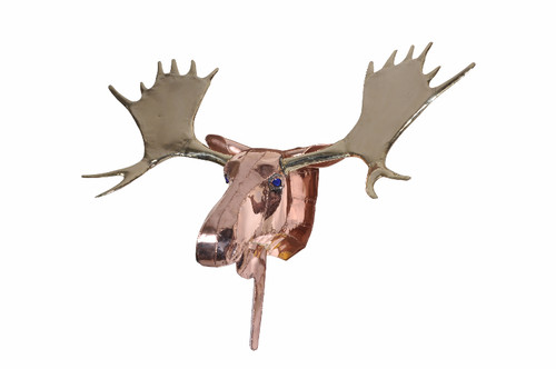 Large copper moose head