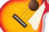 Epiphone Les Paul Ukulele, Heritage Cherry Sunburst, Pickup, GigBag
