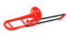 pBone Mini Plastic Trombone, includes Bag & Mouthpiece, Red