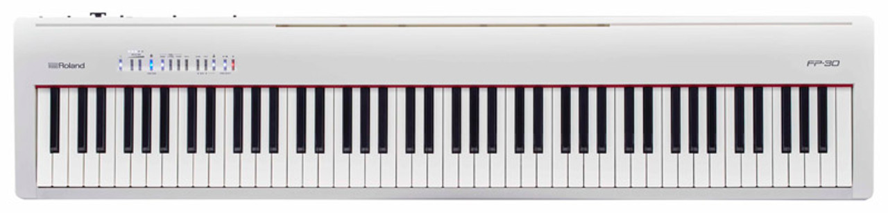 Roland Fp 30 Digital Piano White Absolute Music