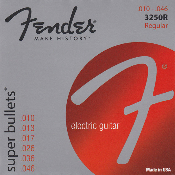 Fender Bullets 3250R Electric Guitar Strings 10-46 New