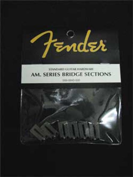 Fender Stratocaster Am. Series Bridge Saddles Stainless Steel Sections Set 099-0840-000