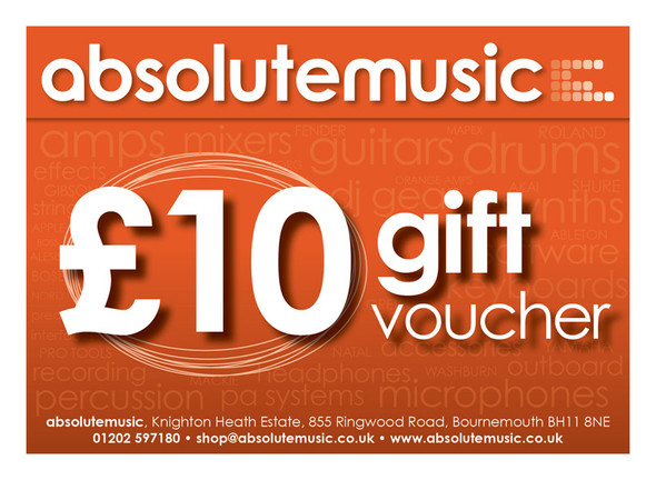 absolutemusic 10 Pound Gift Voucher