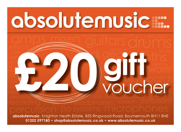 absolutemusic 20 Pound Gift Voucher