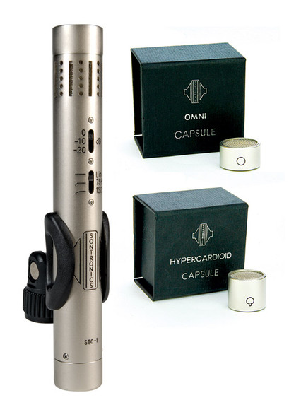 Sontronics STC-1 Condenser Mic (Silver) with Hyper and Omni Capsules