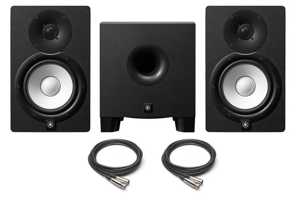 Yamaha HS7 Active Monitors and HS8S Sub Bundle