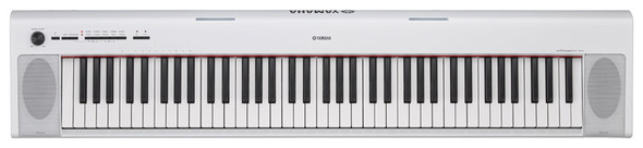Yamaha NP-32 Piaggero Piano Bundle, White, with Headphones, Bench and Stand