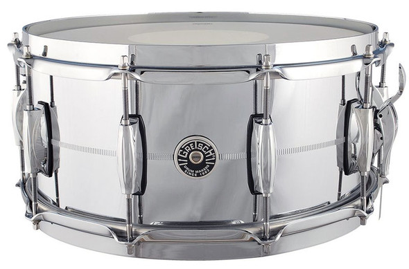 Gretsch GB4164 Brooklyn 14 x 6.5 Inch Chrome on Brass Snare Drum