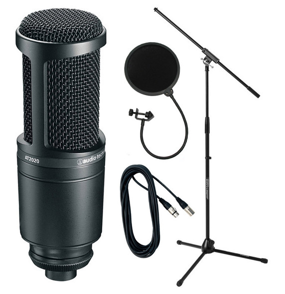 Audio Technica AT2020 Condenser Microphone Bundle