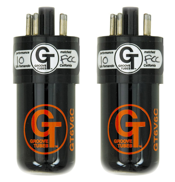 Groove Tubes GT-6V6-C Power Valves, Matched Pair, Medium Rating