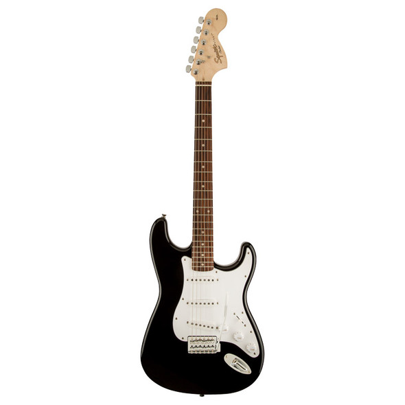 Fender Squier Affinity Stratocaster Electric Guitar, Black, Laurel