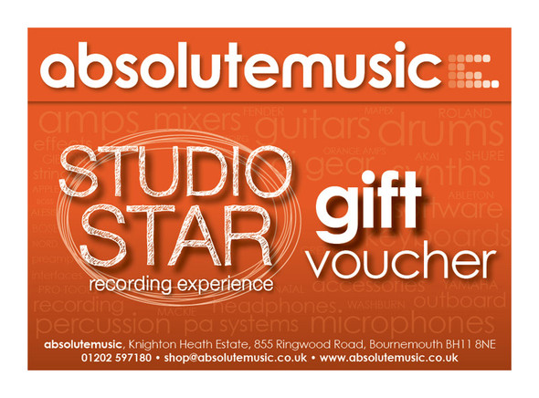 absolutemusic Studio Star Voucher
