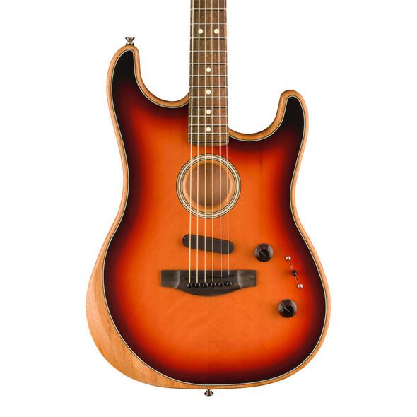 Fender American Acoustasonic Stratocaster, 3 Tone Sunburst