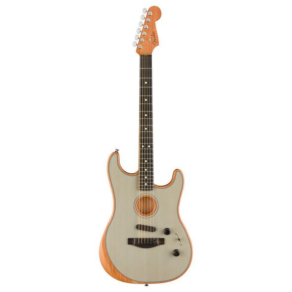 Fender American Acoustasonic Stratocaster Transparent, Sonic Blue