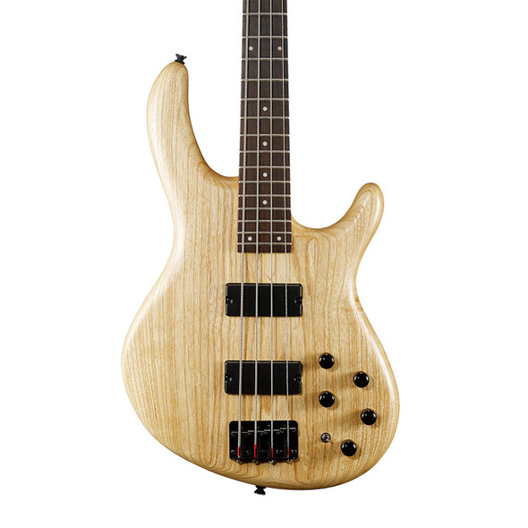Cort Action Deluxe AS Electric Bass Guitar, Open Pore Natural