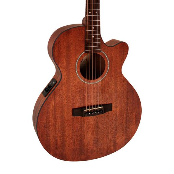 Cort SFX MEM Electro Acoustic Guitar, Open Pore Mahogany