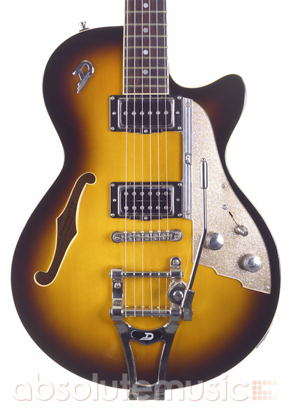 Duesenberg Starplayer TV Electric Guitar, Sunburst with Hard Case (Pre-Owned)