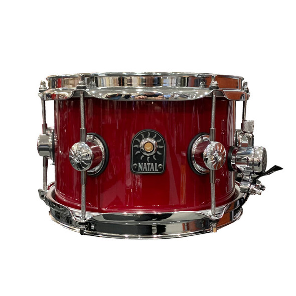 Natal Stave 10 x 6.5 inch Maple Snare Drum in Red