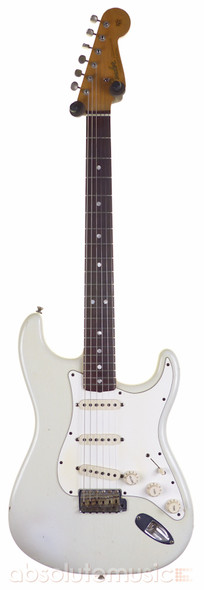 Fender Custom Shop 1965 Relic Stratocaster, Olympic White with Case (Pre-Owned)