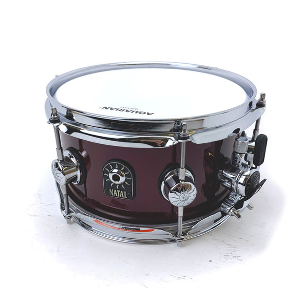 Natal Stave 10 x 5.5 inch Maple Snare Drum in Red