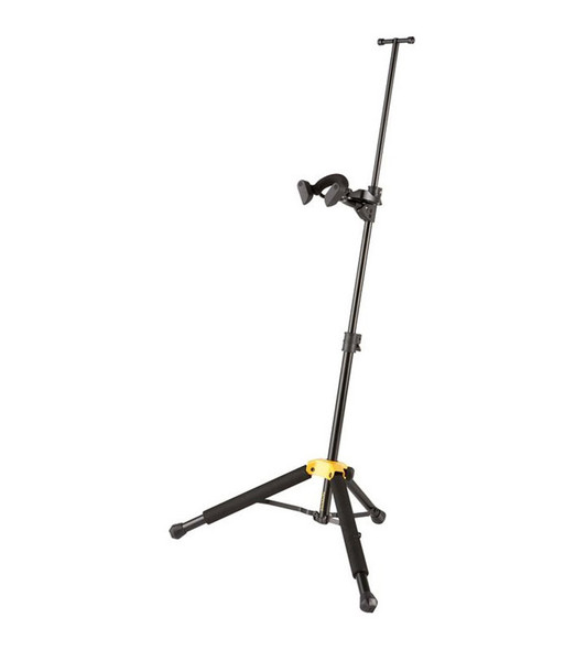 Hercules DS571B violin/viola stand with auto-grip yoke, includes carry bag