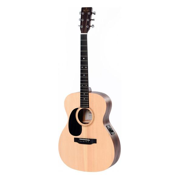Sigma 000MEL+ Auditorium Electro Acoustic Guitar, Left Handed