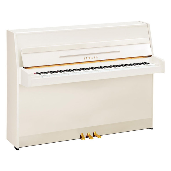 Yamaha B1 Upright Acoustic Piano, Polished White