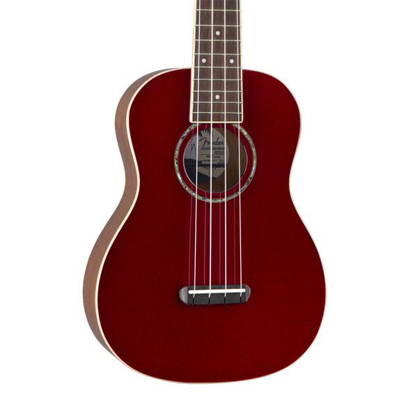 Fender Zuma Classic Concert Ukulele, Candy Apple Red, Walnut Fingerboard