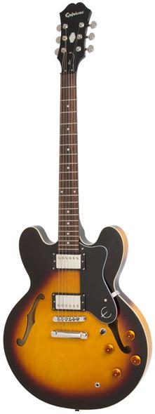 Epiphone Dot 335 Hollowbody Electric Guitar, Vintage Sunburst