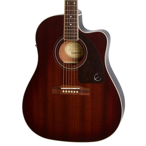 Epiphone AJ-220SCE Electro-Acoustic Guitar, Mahogany Burst