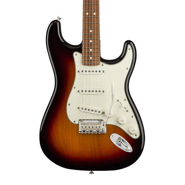 Fender Player Stratocaster Electric Guitar, 3-Colour Sunburst, Pau Ferro