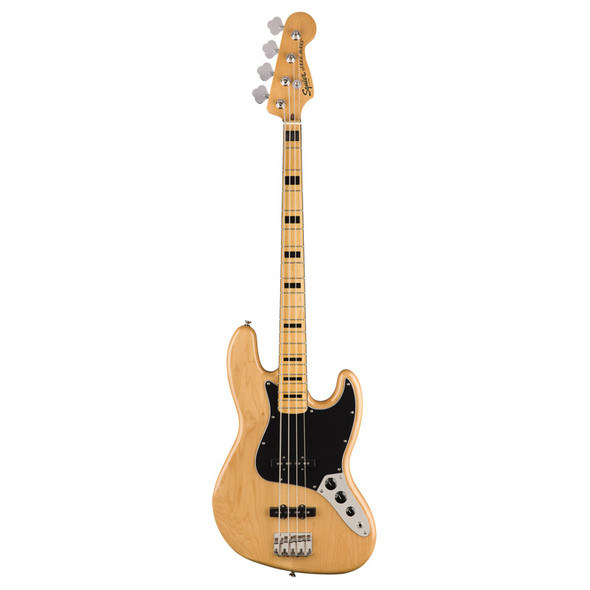 Fender Squier Classic Vibe 70s Jazz Bass, Natural, Maple Fingerboard