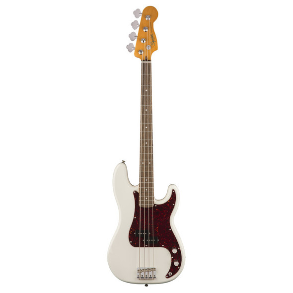 Fender Squier Classic Vibe 60s Precision Bass, Olympic White, Laurel
