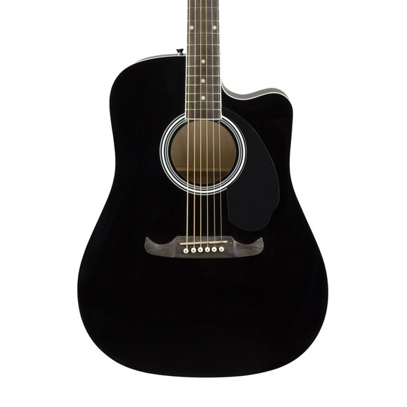 Fender FA-125CE Dreadnought Electro-Acoustic Guitar, Black