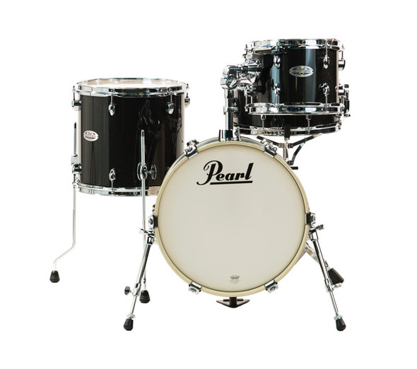 Pearl Midtown MDT 4 Piece Shell Pack, Black Gold Sparkle