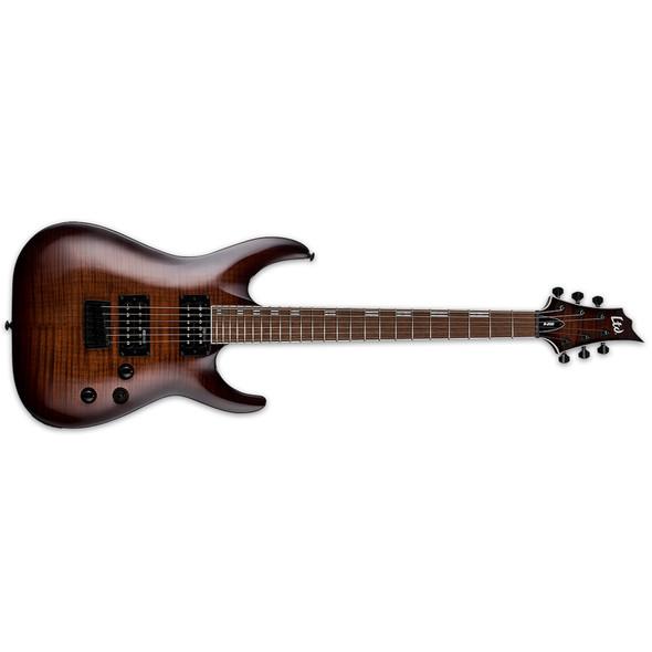 ESP LTD H-200 Flamed Maple Electric Guitar, Dark Brown Sunburst